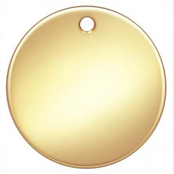 14 K Gold Filled Tag - Bedel, 13 x 0.5 mm, verpakt per  stuk