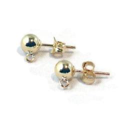 14 K Gold Filled oorsteker, 5 mm bal, verpakt per paar