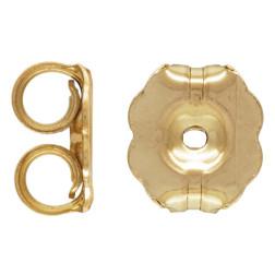 14 K Gold Filled Vlindertje voor Oorsteker, 5 x 5.8 mm, per paar