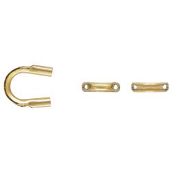 14 K Gold Filled Draadbeschermer, 0.38 mm, per stuk