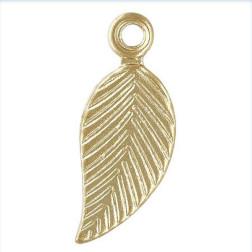 14 K Gold Filled Bedel, Blad, 10 mm, per stuk