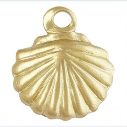 14 K Gold Filled Bedel, Schelp, 7 mm, per stuk