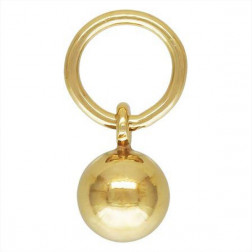 14 K Gold Filled Hooplet - Bedel, bol, 4 mm, per stuk