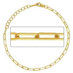14 K Gold Filled Schakelarmband, 19 cm, verpakt per stuk
