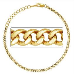 14 K Gold Filled Armband, Curb Design, 19 cm, verpakt per stuk