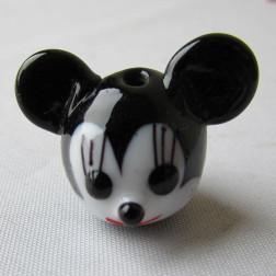Glaskraal Mickey Mouse, 26 x 22 x 18 mm, per 5 stuks