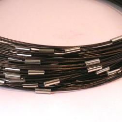 Spang, RVS, 52 cm, bruin