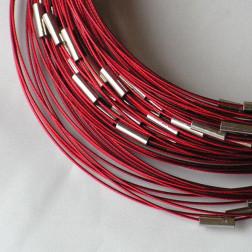 Spang, RVS, 45 cm, rood