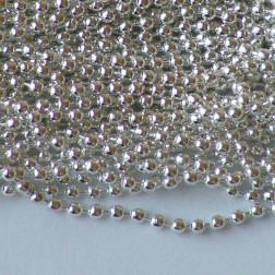 Zilverkleurige bolletjesketting, 2 mm,  verpakt per 5 x 1 meter