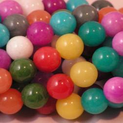 Marmer kralen, 10 mm, multicolor, verpakt per streng