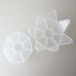 Plastic Kralendoosje, 7 vakjes, 8 cm
