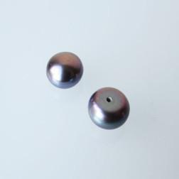 Zoetwaterparel, paars, halfdrilled, 8-9 mm, per paar