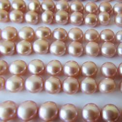 Zoetwaterparel, roze, halfdrilled, 5 mm, per paar