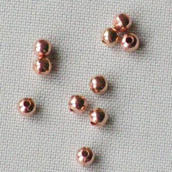 Roze goud kraal, 2 mm, per 30 stuks