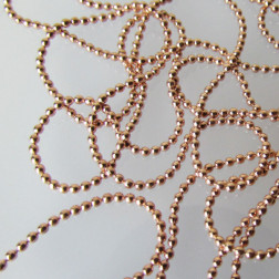 Roze gouden bolletjesketting, 1.2 mm dik, per meter