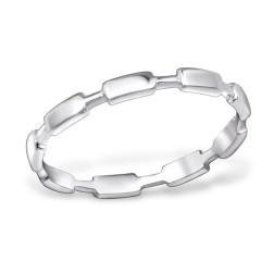 Sterling zilveren (925) ring, aanschuifring, maat 18