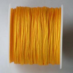 Satijnkoord, geel, 1 mm, per 90 meter