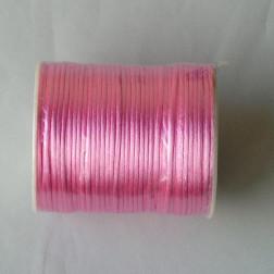 Satijnkoord, roze, 2 mm, per 90 meter