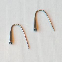 Edelstalen RVS oorhaak (316), 17 mm, per 10 stuks