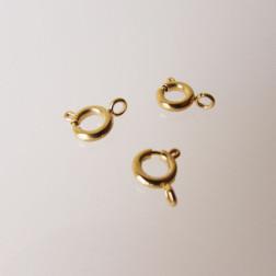 G.P. Edelstalen Springslot, 6 mm, met gesloten ringetje, verpakt per stuk