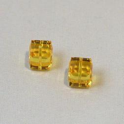 Swarovski® kubus kraal, 8 x 8 x 8 mm, Light Topaz, verpakt per stuk