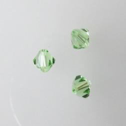 Swarovski® bicone, Xilion, 6 mm, PERIDOT, verpakt p. 6 stuks