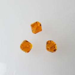 Swarovski® bicone, Xilion, 6 mm, TANGERINE, verpakt p. 6 stuks