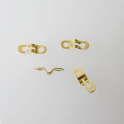 22 K Goud vermeil eindstuk voor 1.2 mm bolletjesketting,  verpakt per  20 stuks