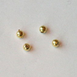 22 K Goud vermeil kraal, 3 mm, verpakt per 50 stuks