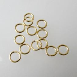 22 K Goud vermeil ring, 7 mm, open, verpakt per 30 stuks