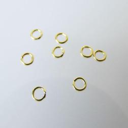 22 K Goud vermeil ring, 3 mm, gesloten, verpakt per 30 stuks