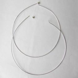 Spang- beadable, zilverkleurig, 43 cm, 1.2 mm dik, verpakt per stuk