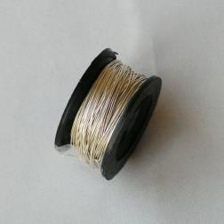 Fijn  zilverdraad,  999/1000, 0.3 mm (28 gauge), half hard, per spoel van 10 meter