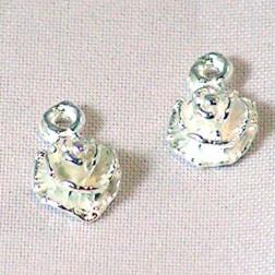 Sterling zilveren (925) bedel, bloem, per stuk