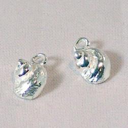 Sterling zilveren (925) bedel, slak, per stuk