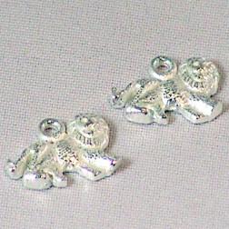 Sterling zilveren (925) bedel, leeuw, per 5 stuks