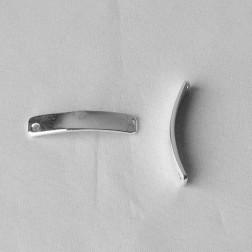 Zilveren naamplaatje, 33 x 6 x 1.4 mm, per stuk