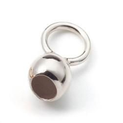 Sterling zilveren (925) inlakbol, 4 mm, verpakt per 10 stuks