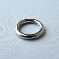 Zilverkleurige metallook spacer, 15 x 2 mm, grootgatskraal, per 10 stuks