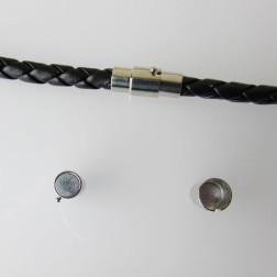 Zilverkleurig magneetslot, 15.5 x 7 mm
