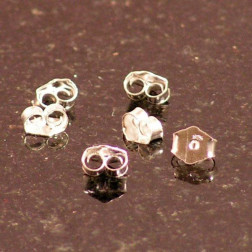 Sterling zilveren (925) vlindertje, verpakt per 50 stuks