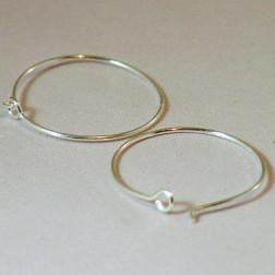 Sterling zilveren (925) oorring, 25 mm, verpakt per 20 stuks