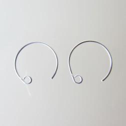 Sterling zilveren (925) oorring met lusje, 16 mm, verpakt per 30 stuks